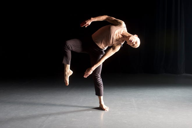 """Dancer and choreographer Jennifer Nugent works on her new piece """"Up Against"""" as part of Sarasota Contemporary Dance's In-Studio program."""