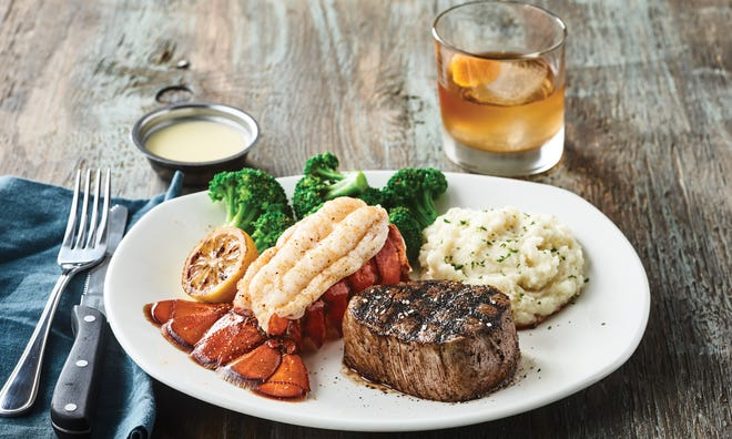 Bonefish Grill's Filet&LobsterTailwith aSmoked Old Fashioned craft cocktailis the Father's Day special.
