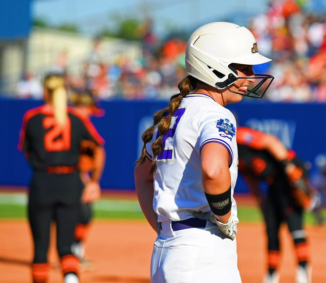 Outfielder Logan Newton, a Lakewood High graduate, batted .356 in her final season for the James Madison University softball team that reached the College World Series.