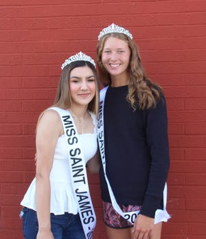 Destiny Sawatzky and Jaelyn Haler were crowned Miss St. James on May 19.