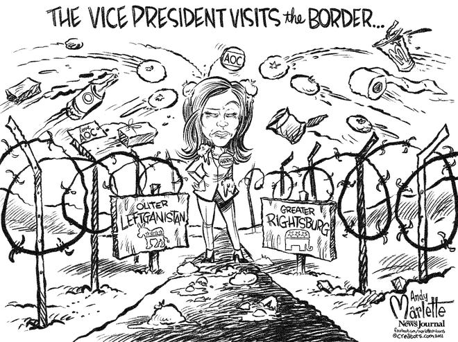 Vice President Harris is stuck in the middle