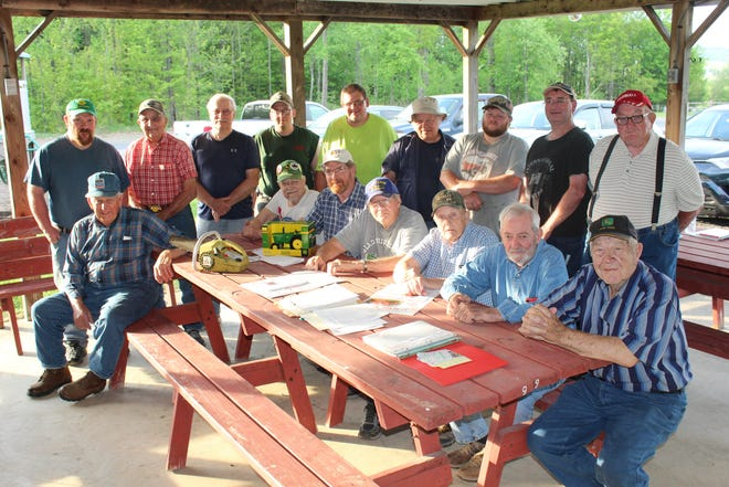 Members of Glades Highlands Antique Iron Association got together to make plans for the upcoming 20th Tractor Show on Father's Day weekend at Glades Church on Huckleberry Highway. They are from left, front: John Ferko, Walter Augustine, Joel Elder, Larry Frazier, Bob Swank, Allen Rhoads and Steve Chappie. In back: Matthew Keefer, Guy Walker, Al Miller, Ralph Shippey, Dennis Coslic, Terry Brenneman, Dustin Chathams, Doug Brant and John Zehner.