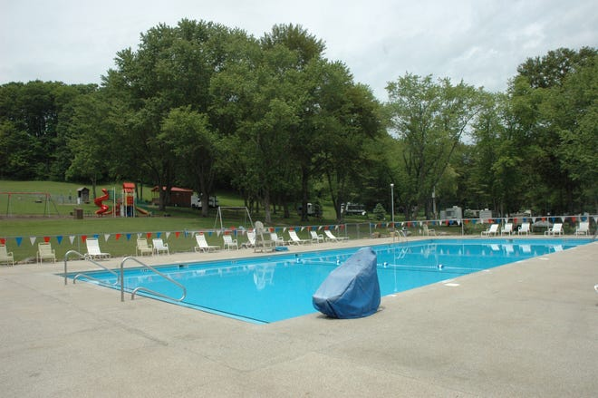 An Olympic size swimming pool is open to guests staying at Pioneer Park Campground.