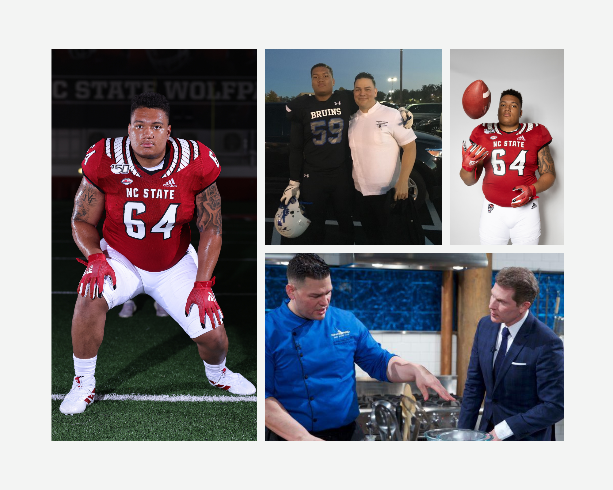 Football, food, family: N.C. State lineman Chandler Zavala learns lessons from 'Chopped' champion dad