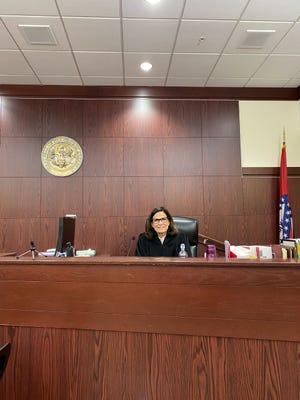 Circuit Judge Annie Hendricks presides over the Sebastian County Mental Health Court.