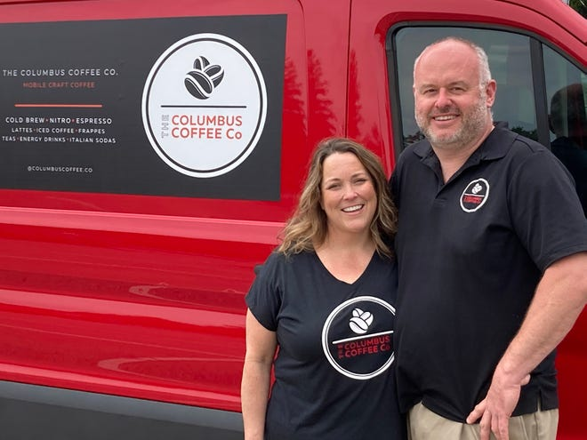 Margaret and David Caldwell own and operate the Powell-based Columbus Coffee Co. truck.
