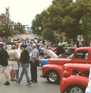 Attendees are pictured here at the Fathers Day weekend car & truck show in downtown Waynesboro