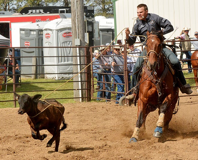 Tate Johnson of Sisseton is one of the area cowboys and cowgirls set to compete this weekend in the Watertown Eastern Region High School Rodeo at Derby Downs. Events open Friday night. Full rodeos are scheduled for Saturday and Sunday.