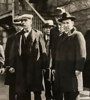 Bartolomeo Vanzetti (left) and Nicola Sacco, 1927.