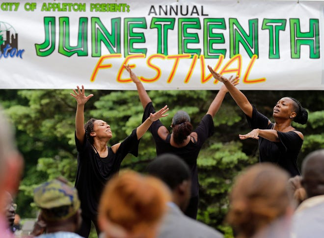The Amazing Grace Dance Company performs during Appleton's Juneteenth celebration in 2017. After holding a virtual program in 2020, African Heritage, Inc. is back this year with an in-person event, including a COVID-19 vaccine clinic.