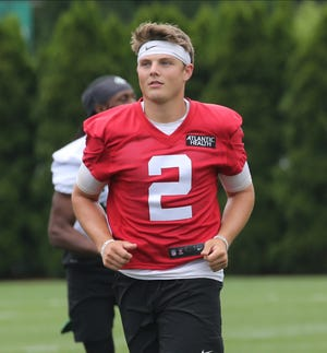 Zach Wilson is among three quarterbacks and seven first-round picks overall who remain unsigned by their NFL teams as of July 5.