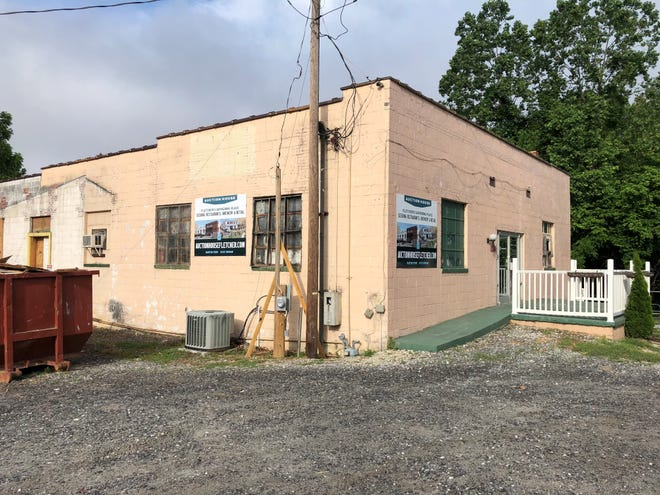 This former auction house at 31 Fanning Bridge Road in Fletcher is being transformed into a brewpub/restaurant that should open in early 2022.