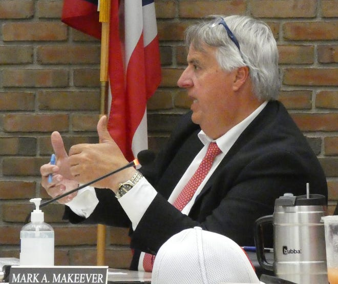 Rob Ratliff, Bucyrus law director, speaks during a June meeting of Bucyrus City Council.