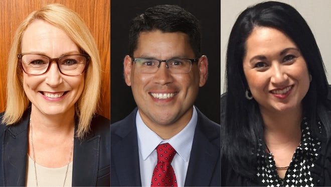 Christa Rasche (left), Robert Arredondo andMelissa Clearman were selected to be new principals for three CCISD campuses.