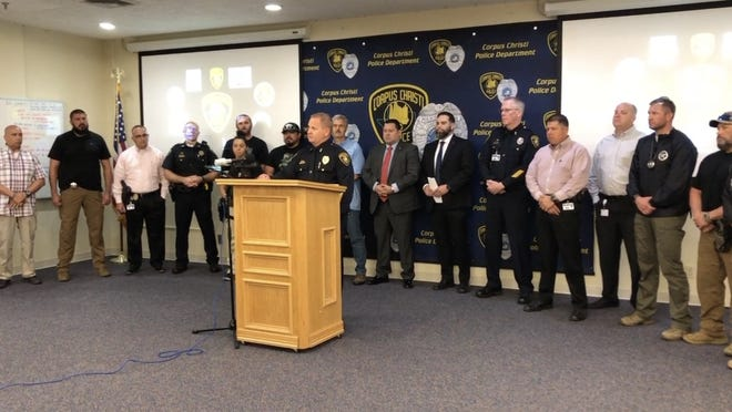 Interim Chief of Police David Blackmon speaks at a Corpus Christi Police Department Press Conference on June 10, 2021 to give an update on the alleged kidnapping of 18-year-old Jezabel Zamora and her 1-year-old daughter Zaylee Zamora.