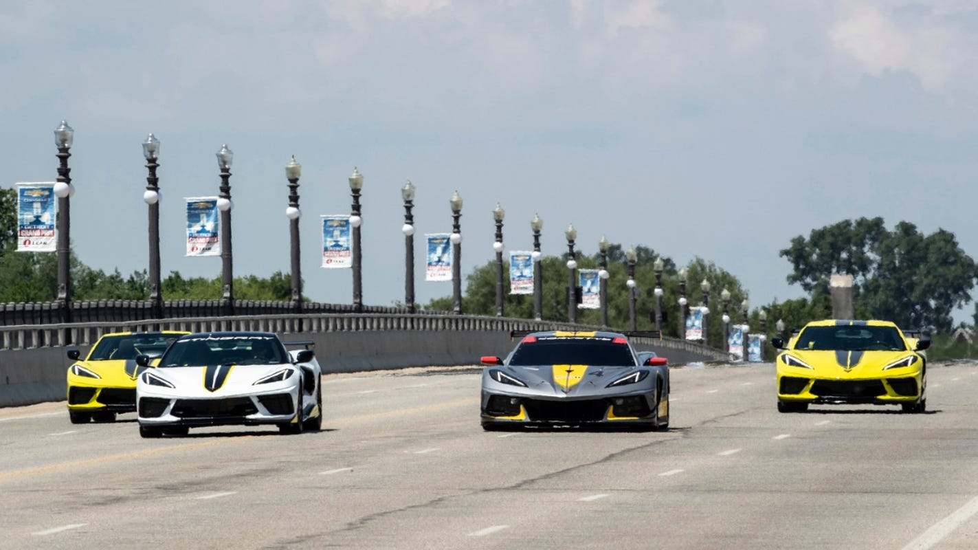 Chevy shows new 2022 Corvettes at Belle Isle ahead of Grand Prix