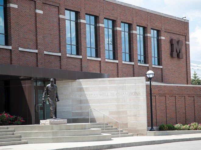 University of Michigan's Schembechler Hall in Ann Arbor, Thursday, June 10, 2021.