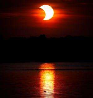 Solar eclipse on June 10, 2021 in Michigan