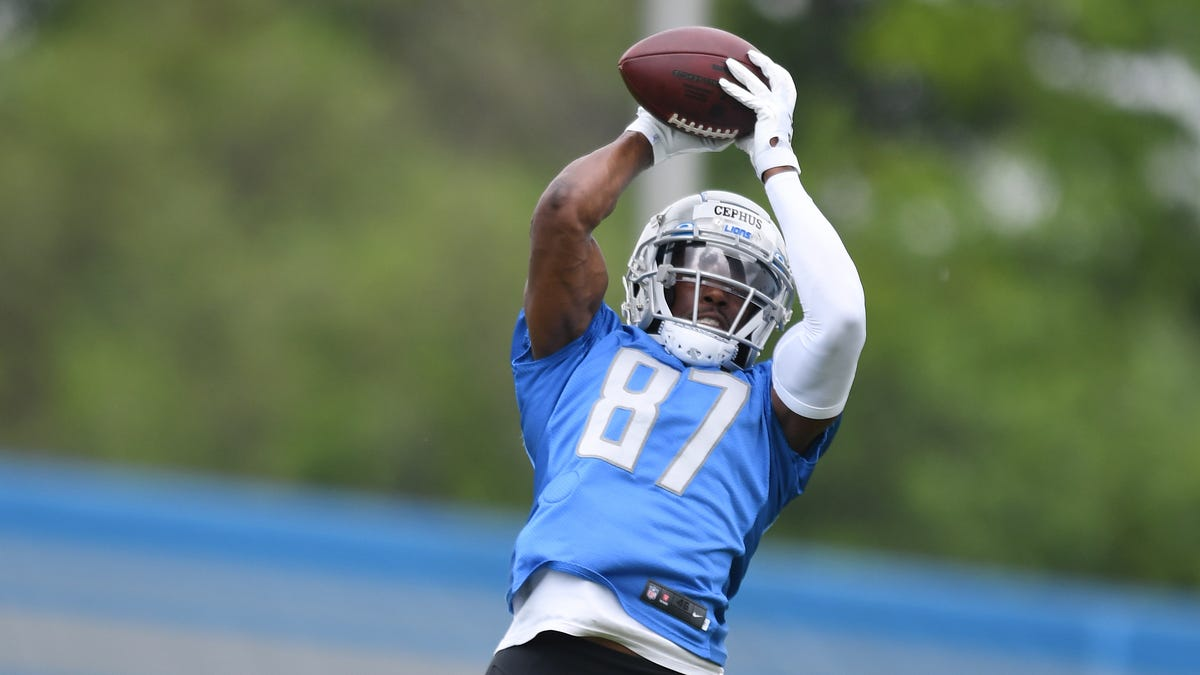 Lions minicamp observations: Bolden, Cephus create buzz; Goff-Hockenson connection clicking 1