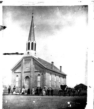 Zion United Church of Christ at First and Ingram streets is donating its property for the use of the Women's Addiction Recovery Manor. This photo dates from about the time the church opened at the end of 1873, although the congregation organized as a brotherhood as early as 1867.