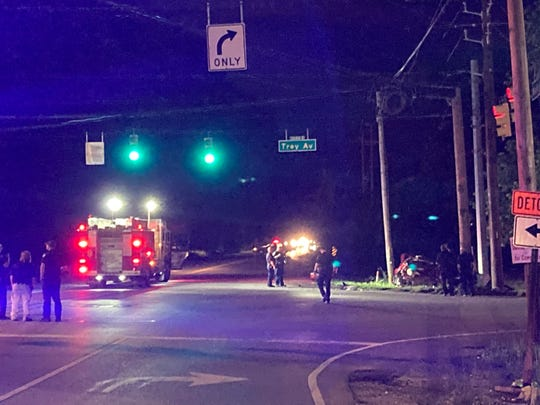 An Indianapolis police officerwas involved in a crash in the intersection of Bluff Road andWest Troy Avenue on the city's south side on Wednesday, June 9, 2021.