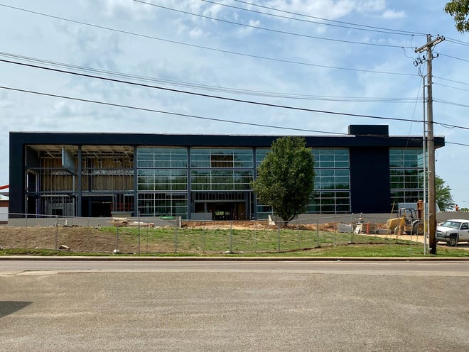 Jackson Central-Merry High School is being renovated at its current location as a 6-12 grade school. This photo was taken on May 22, 2021.