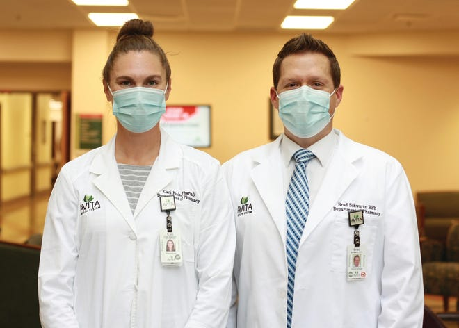 Cari Fink, PharmD, Brad Schwartz, RPh, of Avita Health System.
