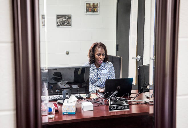 Rhonda Ward, Director of Diversity at Muncie Community Schools, in her office at the MCS administration building Wednesday, June 9, 2021.