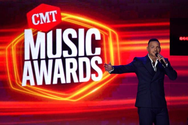 Kane Brown hosts the 2021 CMT Music Awards at Bridgstone Arena in Nashville, Tenn, on Wednesday, June 9, 2021.