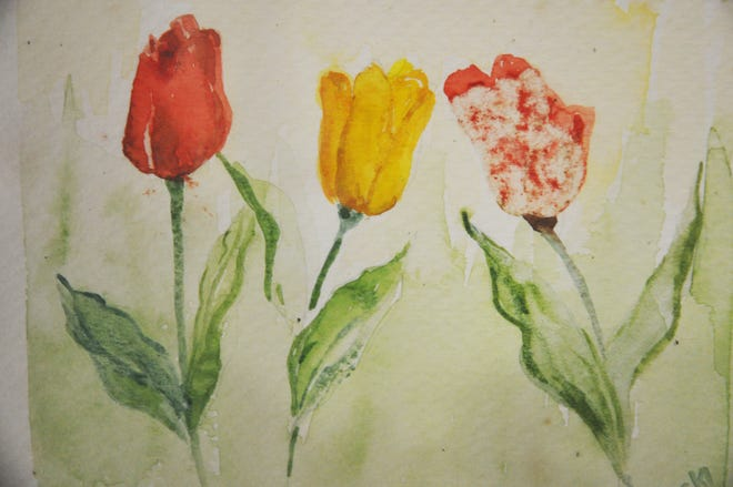 These are some images of the notecards that were made from paintings drawn by Estero pioneer Vicki Fernandez.