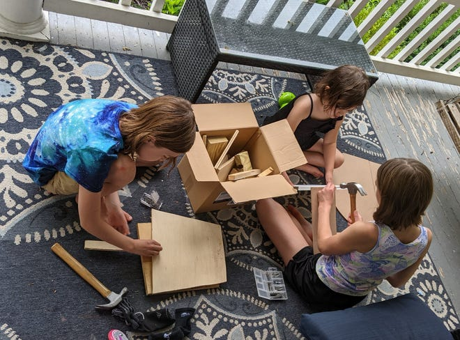 Abbey has her kids take up the task of building something to get rid of some summer boredom.