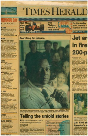 Samuel Chapman was featured in the Times Herald several times throughout his life. He died Sunday.