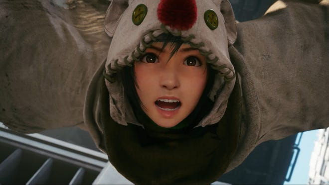Yuffie jumps into Final Fantasy 7 Remake with the Intergrade DLC.