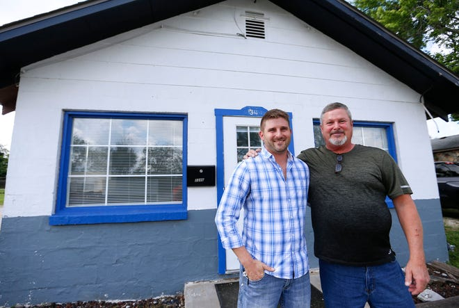 Nathan 'Cal' Gray (right) and his son Nate own and operate a property management company with nearly 100 properties in Springfield.