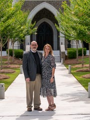 Rev. Marcus Kaiser Sr. with his wife, Kimberly at St. Peter's Anglican Cathedral, where he will be installed as  Dean of the Cathedral, as well as Rector on June 20, 2021.