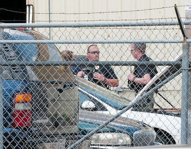 Wichita Falls Police served a search warrant at an address on Lee Street Thursday afternoon.