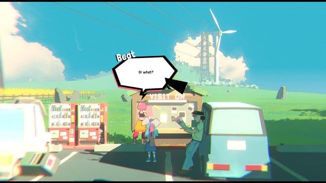 """Une image du jeu vidéo """"Imbattable,"""" en développement pour PC, Mac et Linux ;  une version démo PC du jeu est disponible sur Steam."""