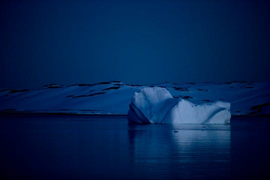 Icebergs float near the Byers Peninsula, Livingston Island in Antarctica's South Shetland Islands.  On Tuesday, National Geographic officially announced it knew of the surrounding water.  Antarctica is officially the Southern Ocean.  making it the fifth ocean beside the Arctic, Atlantic, Indian and Pacific.