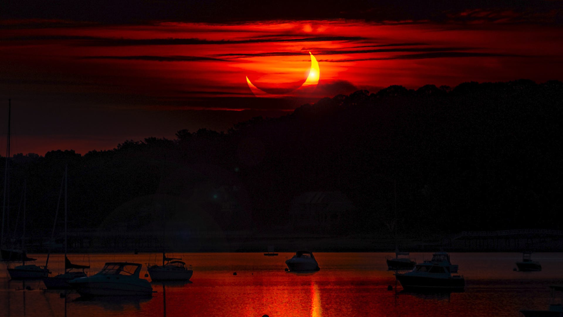 The annular 'ring of fire' solar eclipse captured on camera around the world