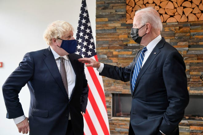 President Joe Biden and British Prime Minister Boris Johnson have a lot to discuss ahead of the G-7 summit in Cornwall, UK.
