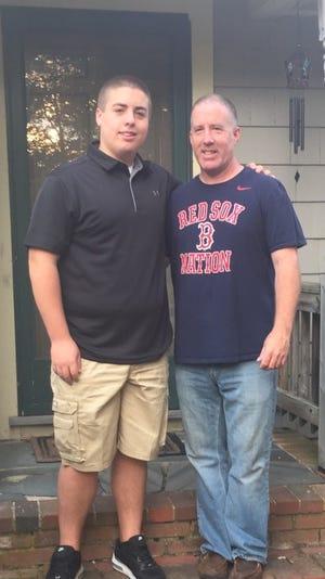 Patrick Naughton and his son Brendan