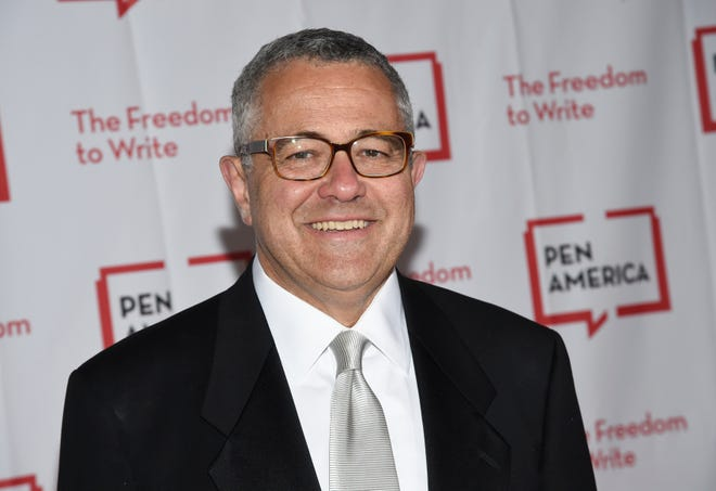 Jeffrey Toobin returned as a CNN legal analyst, apologizing for a Zoom call transgression that lead to a leave of more than six months from the cable news network and his dismissal from The New Yorker magazine.
