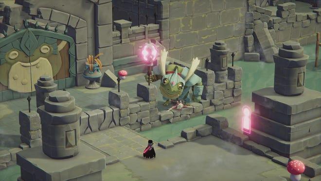 Dans le jeu d'action fantastique 'Death's Door', vous incarnez un corbeau qui doit récolter les âmes des morts.  Dû cet été pour Xbox One et PC.