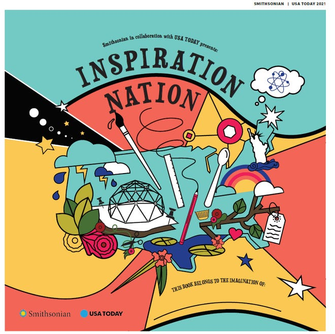 Inspiration Nation is a 40-page learning guide published by the Smithsonian Institution and USA TODAY.
