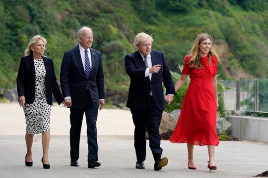 President Joe Biden and First Lady Jill Biden will meet with British Prime Minister Boris Johnson and his wife, Carrie, ahead of the June 10 G-7 Summit in Carbis Bay, England.