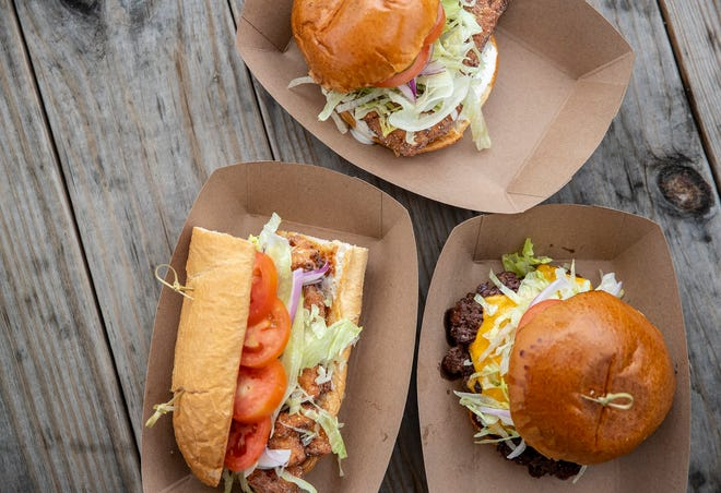 In addition to its seafood po'boys and sandwiches, Huckleberry also offers a smashburger on Thursdays only.