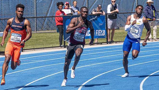 Track star Benjamin Azamati helped lead the WT men's track & field team to a national runner-up title.