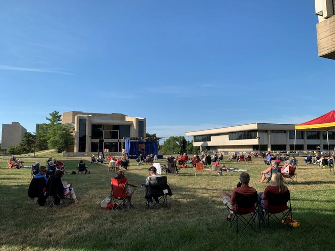 Goldfinch Room on the Lawn music series is held in the greenspace near Stephens Auditorium.