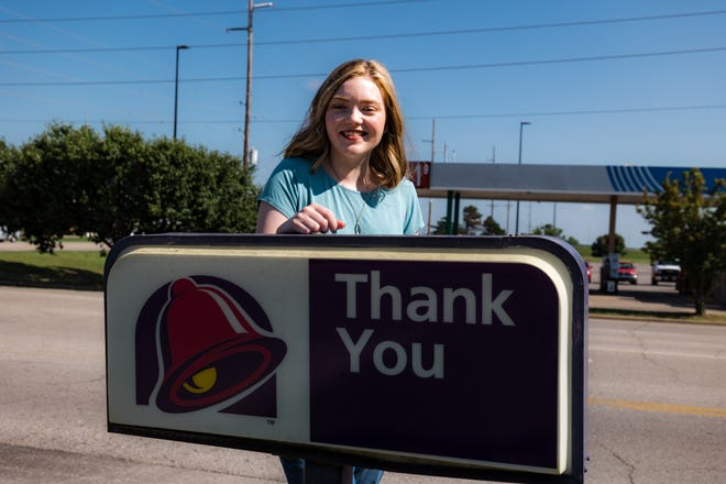 Jessica Dunaway was awarded a $5000 scholarship from Taco Bell.