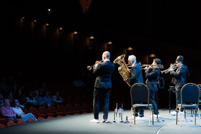 OKM Music Festival opened Thursday night at the Bartlesville Community Center with the world-renown Canadian Brass ensemble performing works by Bach, Beethoven, Rimsky-Korsakov, The Beatles, and more. Performances from local and visiting artists will be held through the 17th.